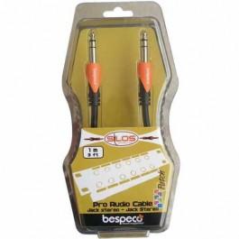 Ενισχυτες Οργανων - Bespeco Cable 1m Straight Stereo Οργάνου