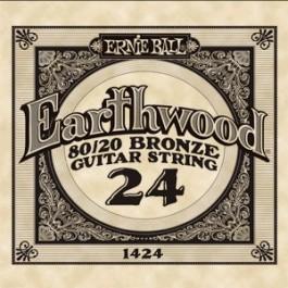 ERNIE BALL 1424 Earthwood Bronze Χορδή Ακουστικής Κιθάρας 024 ΧΟΡΔΕΣ ΜΟΝΕΣ ΑΚΟΥΣΤΙΚΗΣ