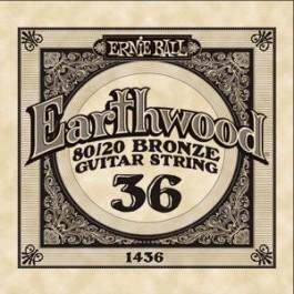 ERNIE BALL 1436 Earthwood Bronze Χορδή Ακουστικής Κιθάρας 036 ΧΟΡΔΕΣ ΜΟΝΕΣ ΑΚΟΥΣΤΙΚΗΣ