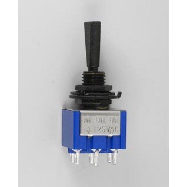 Goldo Mini Switch On-On-On DPDT Black