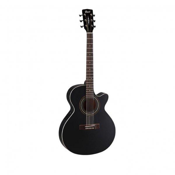 Cort Ηλεκτρακουστική Κιθάρα Slim Body Black Satin