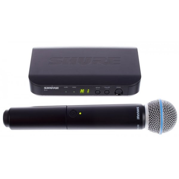 Shure BLX24 / Beta 58 - Wireless Vocal System with Beta 58A Plastic Receiver