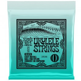 Ernie Ball 2326 Σέτ χορδών Ukulele Black Nylon PRODUCTS FROM XML Μουσικα Οργανα - Κιθαρες - Kagmakis Guitars