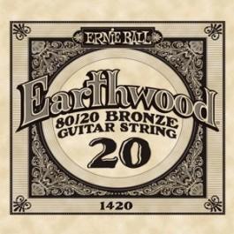 Ernie Ball 1420 Earthwood Bronze Μονή Χορδή Ακουστικής Κιθάρας 020 ΜΟΝΕΣ ΧΟΡΔΕΣ Μουσικα Οργανα - Κιθαρες - Kagmakis Guitars