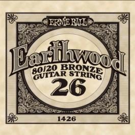 Ernie Ball 1426 Earthwood Bronze Μονή Χορδή Ακουστικής Κιθάρας 026 ΜΟΝΕΣ ΧΟΡΔΕΣ Μουσικα Οργανα - Κιθαρες - Kagmakis Guitars