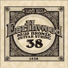 Ernie Ball 1438 Earthwood Bronze Μονή Χορδή Ακουστικής Κιθάρας 038 ΜΟΝΕΣ ΧΟΡΔΕΣ Μουσικα Οργανα - Κιθαρες - Kagmakis Guitars