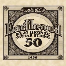 Ernie Ball 1450 Earthwood Bronze Μονή Χορδή Ακουστικής Κιθάρας 050 ΜΟΝΕΣ ΧΟΡΔΕΣ Μουσικα Οργανα - Κιθαρες - Kagmakis Guitars