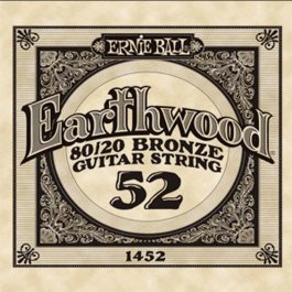 Ernie Ball 1452 Earthwood Bronze Μονή Χορδή Ακουστικής Κιθάρας 052 ΜΟΝΕΣ ΧΟΡΔΕΣ Μουσικα Οργανα - Κιθαρες - Kagmakis Guitars
