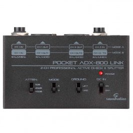 SOUNDSATION ADX-800 Active 2-Channel Splitter DI Box PRODUCTS FROM XML Μουσικα Οργανα - Κιθαρες - Kagmakis Guitars
