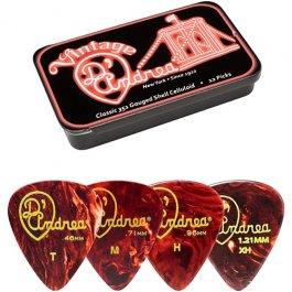 D'Andrea Classic Celluloid Medium Pick Tins 351 Σετ 12 πέννες